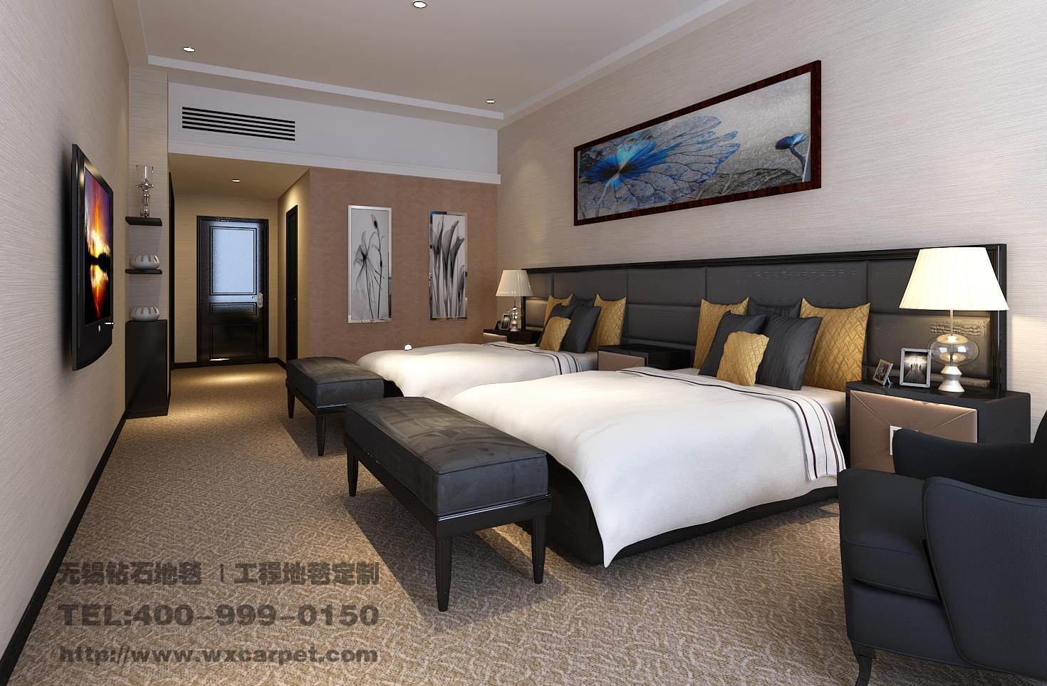 欧式地毯宾馆走廊贴图