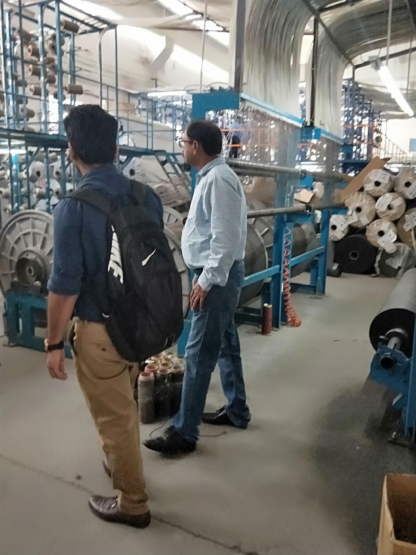 印度客户参观流水线