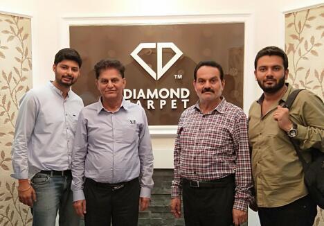 欢迎来自桑迪地毯工业的Rishab Antal访问钻石地毯