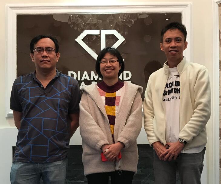 钻石地毯--新加坡客户的方块地毯探访之旅