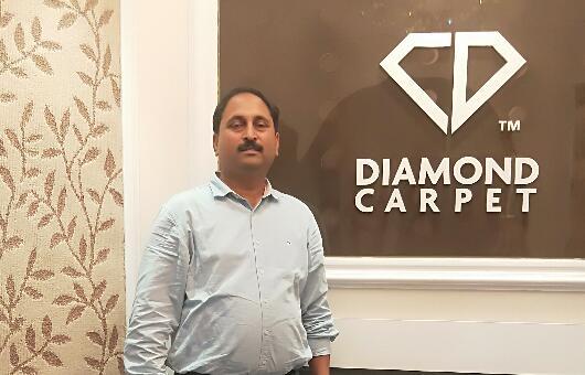 钻石地毯--印度客户方块地毯访问之旅