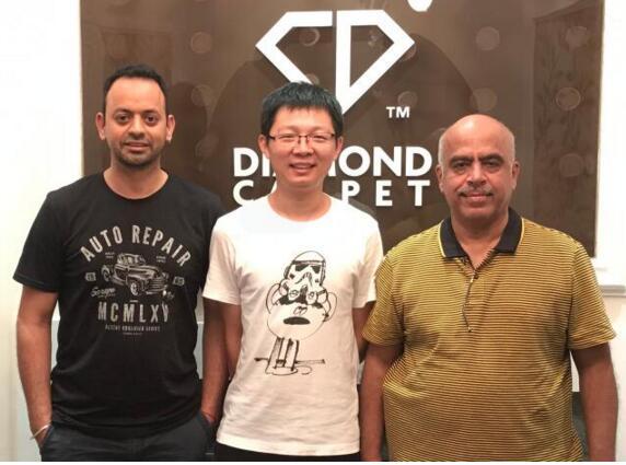 钻石地毯--澳大利亚客户Rahul先生和Satesh先生验厂